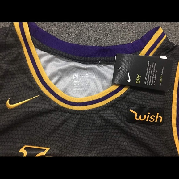 detailed pictures 34a84 58ae6 Nike Lebron James Lakers Authentic Jersey Boutique